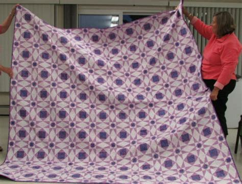 She will pass along the quilts to foothills alliance when she has accumulated several quilts. St Croix Int'l Quilters Guild