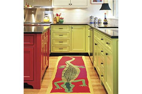 green kitchen mat rugs in kitchens nomadic decorator 1417