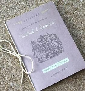 passport wedding invitation travel booklet by rodo With wedding invitation booklet uk