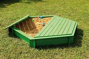 Bac À Sable Plastique : bac a sable bois hexagonal et son couvercle animaloo ~ Melissatoandfro.com Idées de Décoration