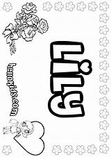 Lily Coloring Pages Printable Names Sheets Say Tiger Water Pad Hellokids Colouring Drawing Getcolorings Adult Grease Letter Getdrawings Flower Boys sketch template