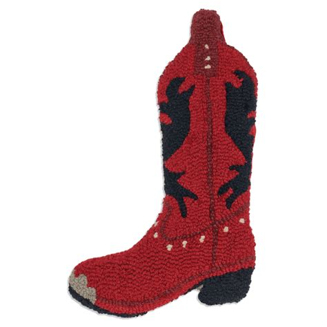 red cowboy boot christmas stocking