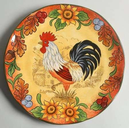 Decorative Chicken Plates - 61 best rooster dinnerware images on