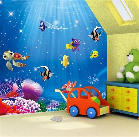 dory nemo cartoon fish wallpaper wall mural kids wallpaper