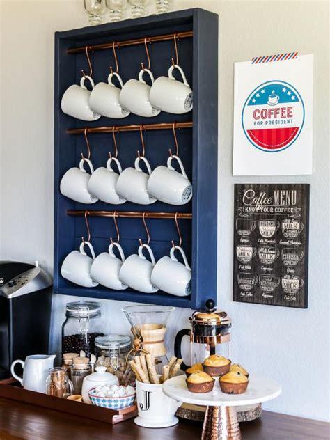 upgrade  kitchen   stylish diy coffee bar hgtv