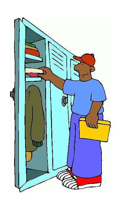 Locker Clipart Open Clip Messy Lockers Cleaning