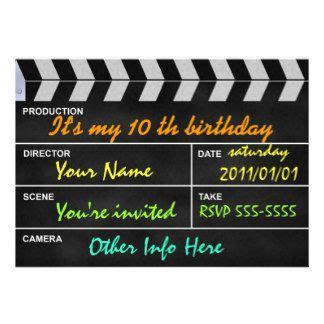 kino einladungen kino einladungskarten kindergeburtstag