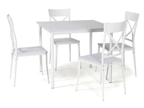 ensemble table carr 233 e et 4 chaises de cuisine romy coloris