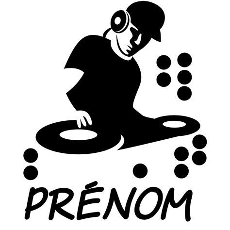 sticker prenom personnalisable dj musique cinema