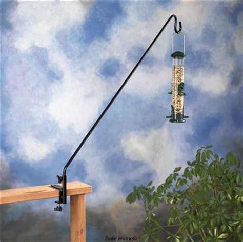 36 inch long black deck hook for bird feeders