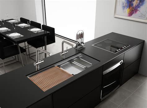 Ruvati RVH8333 Workstation 45? Two Tiered Ledge Kitchen