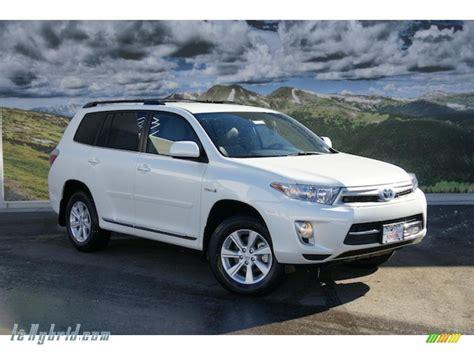Toyota Highlander 4wd by 2011 Toyota Highlander Hybrid 4wd In Blizzard White Pearl