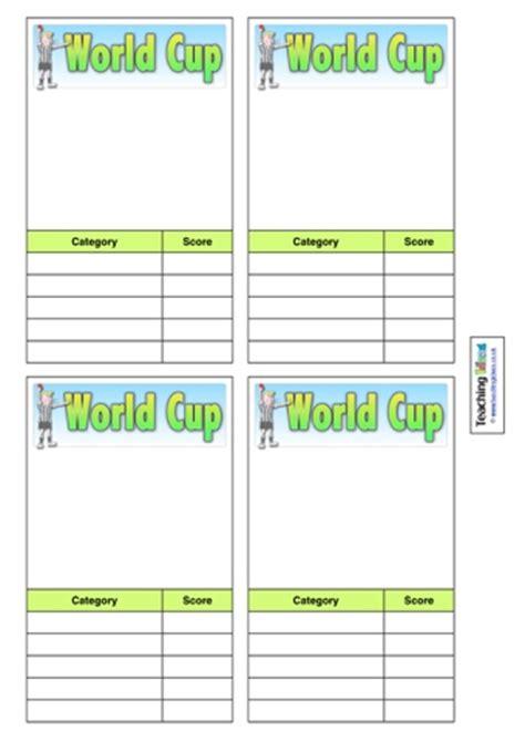 world cup top trumps teaching ideas