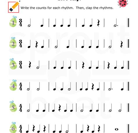 Fun And Learn Music » Music Worksheets  Easter Rhythm