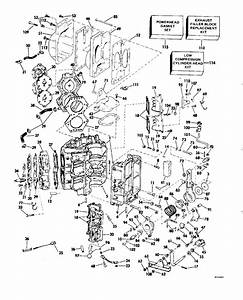 Evinrude Cylinder  U0026 Crankcase Parts For 1982 115hp E115txcnb Outboard Motor