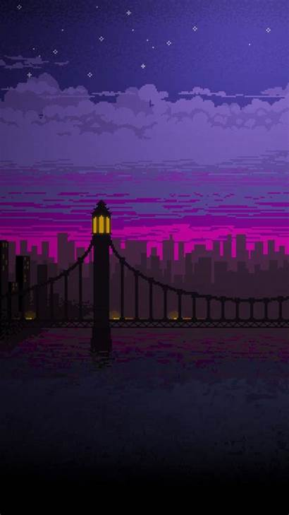 Pixel Night Bridge Wallpapers Galaxy Samsung Cc