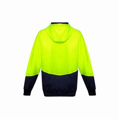 Syzmik Jacquard Textured Hoodie Zip Workwear Vis