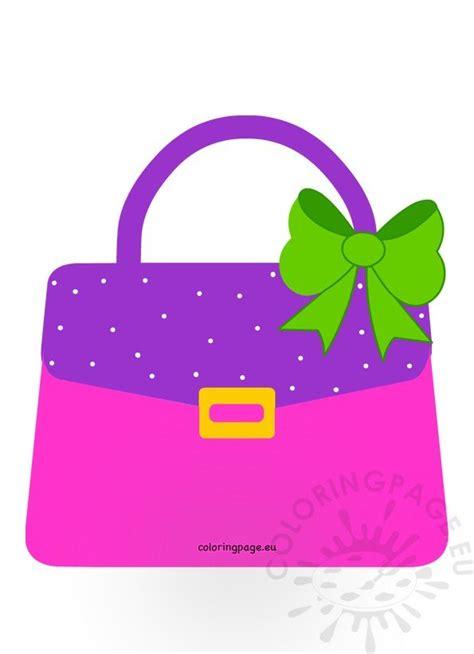 purse handbag clip art image coloring page