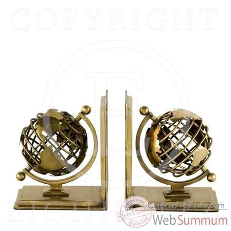 elegant eichholtz serrelivres globe set de cuivre acc