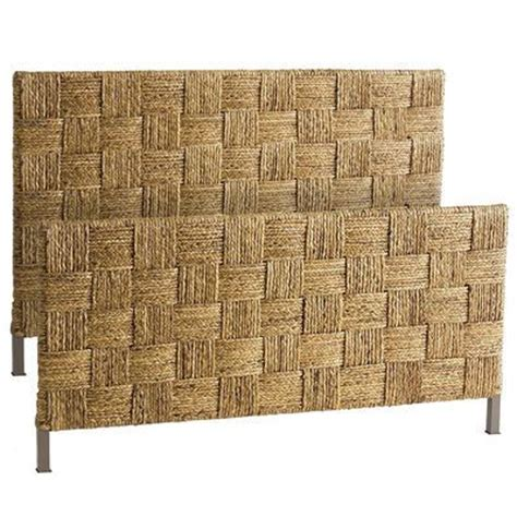 Seagrass Headboard And Footboard by Seagrass Block Headboard Shore House Bed Bath