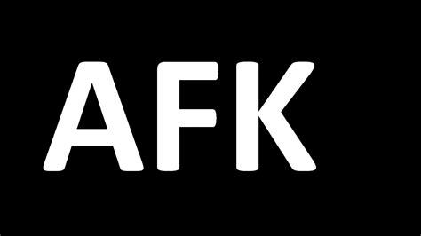 afk black funny text wallpaper