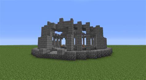 Round Stone Brick & Cobblestone Temple Minecraft Project