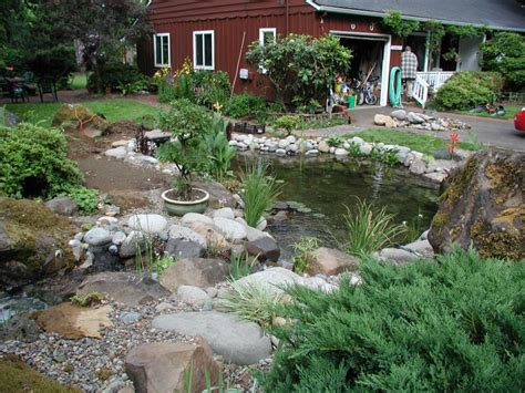front yard pond ideas front yard ponds with stone and grass also trees exterior most popular small pond ideas