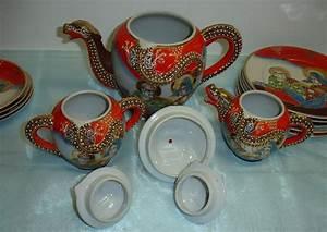 Altes Japanisches Teeservice : rarit t japanisches teeservice m drachenmotiv geisha ~ Michelbontemps.com Haus und Dekorationen