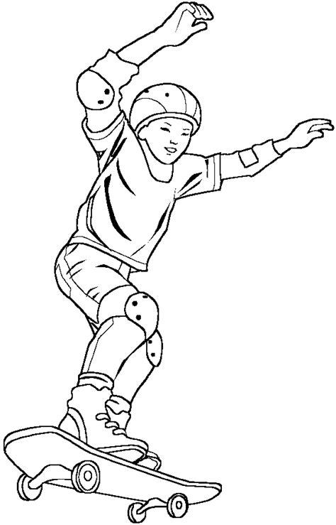 dessins de coloriage skateboard  imprimer sur