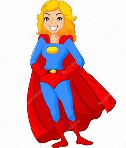 Super héroe de dibujos animados mujer posando Vector de stock #67086047 Depositphotos