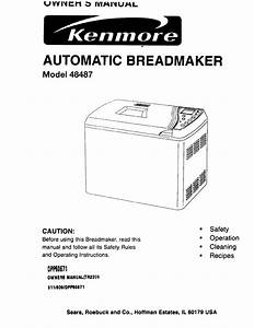 Download Kenmore Bread Maker 48487 Manual And User Guides