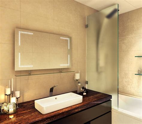 Heated Bathroom Mirrors by Some Excellent Led Bathroom Mirrors With Shaver Socket