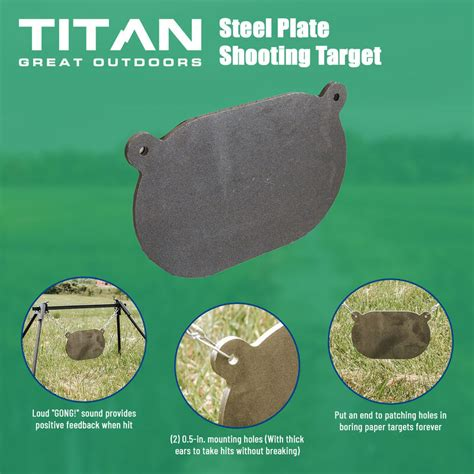 ar steel shooting plate target rifle training pistol practice   thick plate