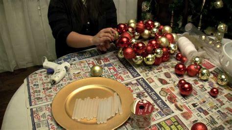 how to make a christmas ornament ball wreath youtube