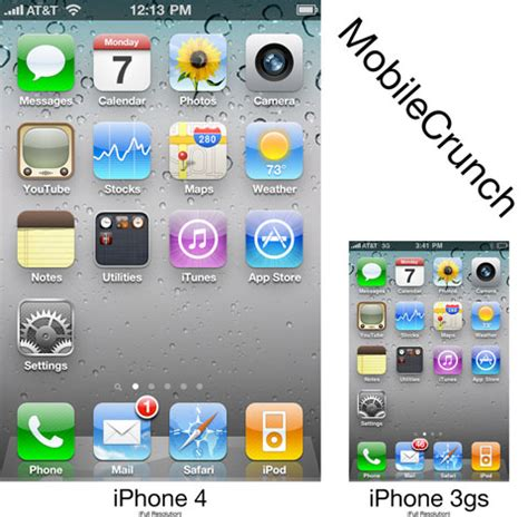 iphone 4 screen size iphone 4 vs iphone 3gs screen resolution touchmyapps