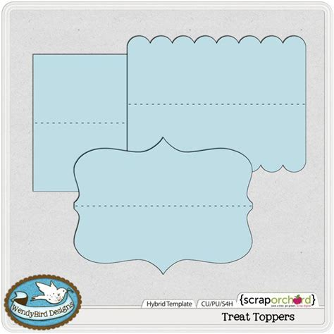 bag topper template treat toppers hybrid template by wendybird designs diy template bag toppers and