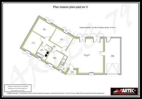 plan maison en v plans de maisons constructeur deux s 232 vres