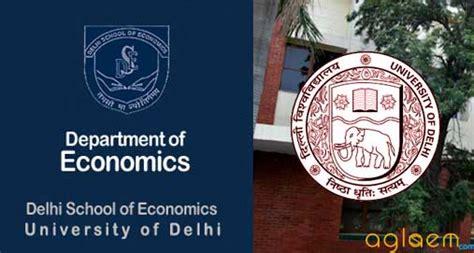 bureau of economics du dse ma economics admission 2018 aglasem admission
