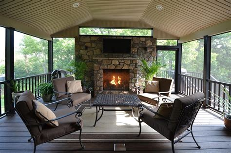 Outdoor Decks With Fireplaces Ideas Bistrodre Porch And