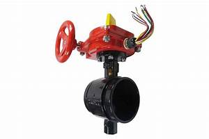4 U0026quot  Butterfly Valve With Tamper Switch