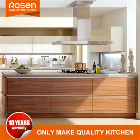 wood veneer kitchen cabinets china customized wood teak veneer kitchen cabinets