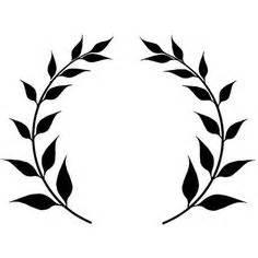 clipart laurel wreath single twig clip art i like With laurel leaf crown template