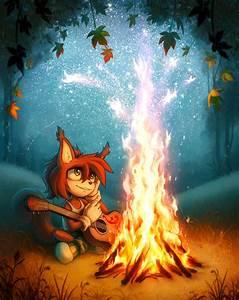 Near the campfire by Ann-Nick on DeviantArt