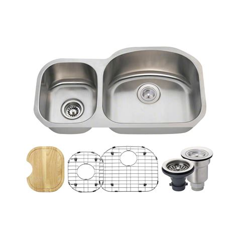 mr direct kitchen sinks reviews mr direct all in one undermount stainless steel 32 in 7049