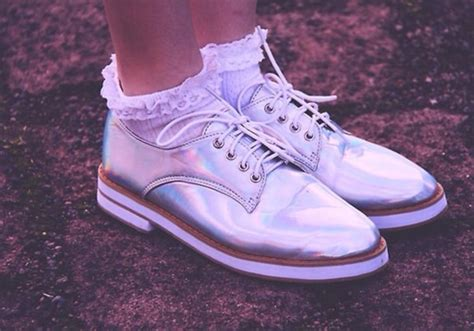 Transparent Holographic Oxford Flat Shoes