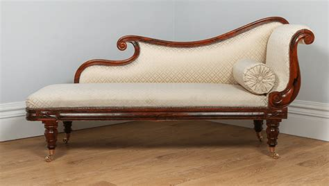 Chaise Settee by Antique William Iv Rosewood Silk Chaise Longue Circa 1840