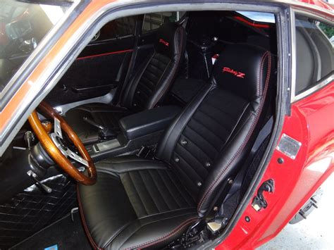 nissan fairlady 240z interior interior innovations genuine leather seat covers datsun