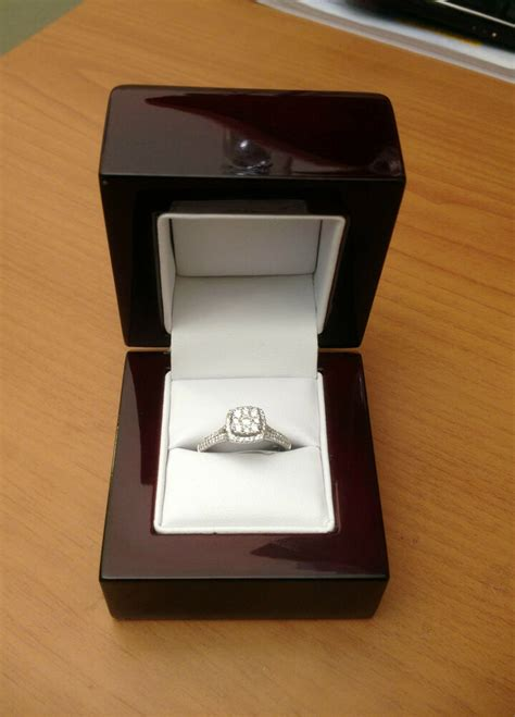 cherry off white engagement ring box great quality great price ebay