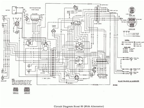 International Alternator Wiring Diagram by International Scout 80 Wiring Diagram Wiring Forums