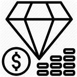 Icon Diamond Value Coin Money Icons Rich